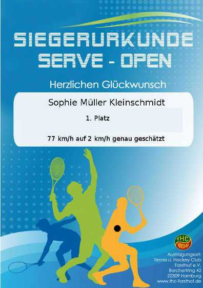 Siegerurkunde - SERVE Open