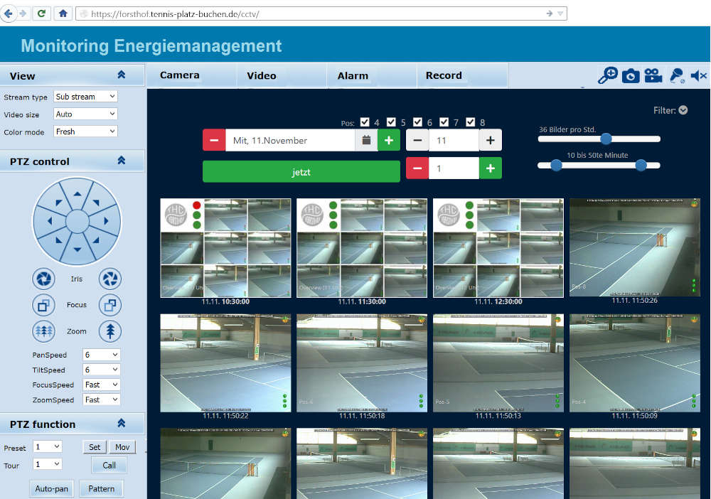 CCTV Monitoring des Lichtmanagement
