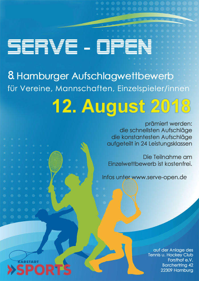 SERVE Open 2018 in den Sommerferien